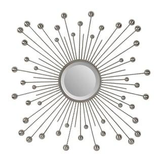 Ren-Wil Laurier Silver Beveled Mirror