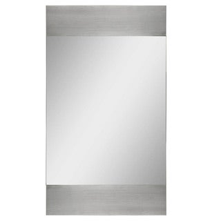 Amrah Polished Aluminum Frame Mirror