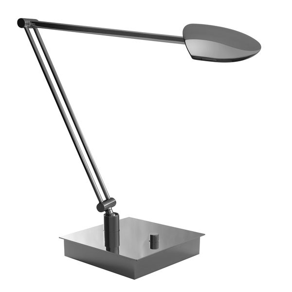Mondoluz 'Pelle' 1-light Chromium Double Arm Table Lamp