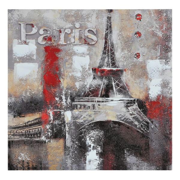 Paradis 'Memories of Paris' Hand-painted Canvas Art