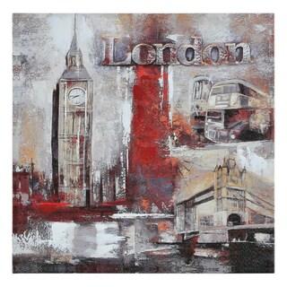 Paradis 'Memories of London' Hand-painted Canvas Art