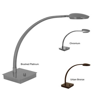 Mondoluz 'Pelle' 1-light Curved Arm Table Lamp