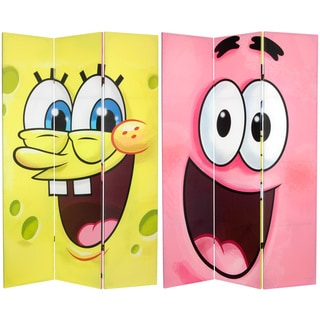 6-foot Tall Double Sided SpongeBob Canvas Room Divider