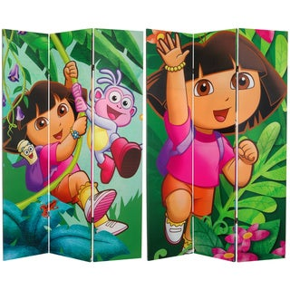 Six-Foot High Double-Sided 'Dora and Friends' Canvas Room Divider