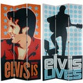 Seven-Foot Tall Double-Sided 'Elvis Presley Lives' Canvas Room Divider