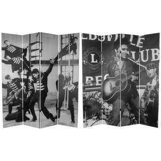 Six-Foot Tall Double-Sided 'Elvis Presley Acoustic' Canvas Room Divider