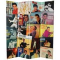 Six-Foot Tall Double-Sided 'Elvis Presley Album Covers' Canvas Room Divider