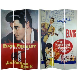 Six-Foot Tall Double-Sided 'Elvis Presley Jailhouse Rock' Canvas Room Divider