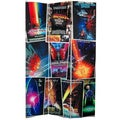 Six-Foot Tall Double-Sided 'Star Trek Movie Posters' Canvas Room Divider