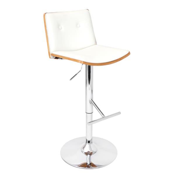 'Lustra' Zebra Bent Wood Adjustable Barstool