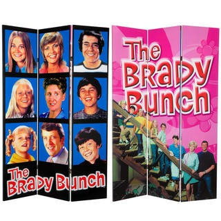 Six-Foot Tall Double Sided 'Brady Bunch' Canvas Room Divider