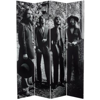 Seven-Foot Tall Double-Sided 'The Beatles Final Photo Shoot' Canvas Room Divider