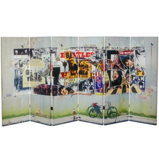 Four-Foot Tall Double Sided 'The Beatles Anthology' Canvas Room Divider