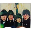 Four-Foot Tall Double Sided 'The Beatles For Sale Canvas' Room Divider