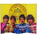 Four-Foot Tall Double-Sided 'The Beatles Sgt. Pepper's' Canvas Room Divider