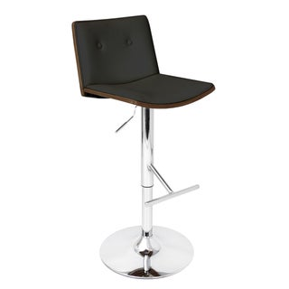 Lustra Wenge Bent Wood Adjustable Barstool