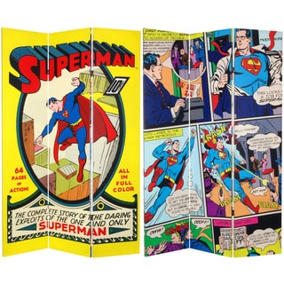 Six-Foot Tall Double Sided 'Superman No. 1' Canvas Room Divider