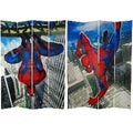 Seven-Foot Tall Double Sided 'Spider-Man Wall Crawler' Canvas Room Divider