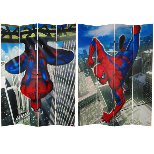 Seven-Foot Tall Double Sided 'Spider-Man Wall Crawler' Canvas Room Divider 10263429