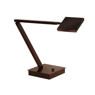 Mondoluz 'Rhombus' 1-light Urban Bronze Table Lamp