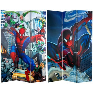 Six-Foot Tall Double Sided 'Spider-Man Rogue's Gallery' Canvas Room Divider