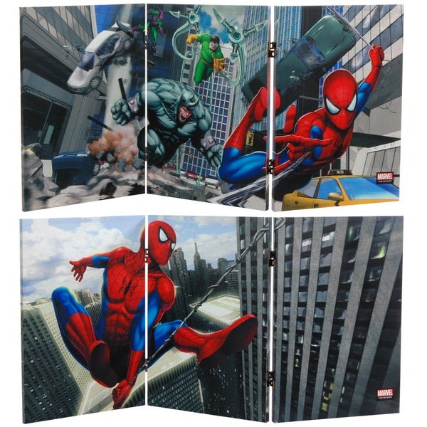 Two-Foot Tall Double Sided 'Friendly Neighborhood Spider-Man' Canvas Room Divider 10263438