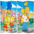 Seven-Foot Tall Double Sided 'Simpsons Kids' Canvas Room Divider (China)