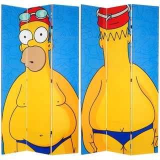 Seven-Foot Tall Double Sided 'Swimsuit Homer' Canvas Room Divider