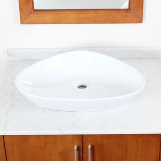 CAE White Ceramic Bathroom Sink