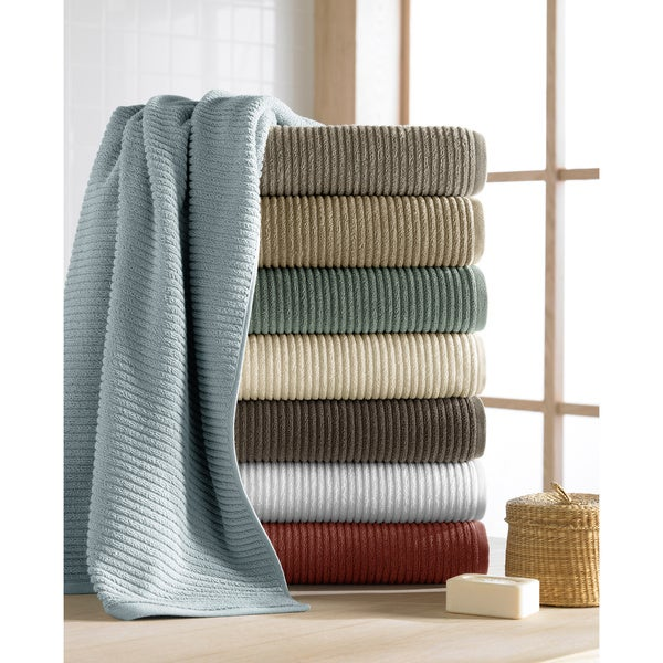 Turkish Long Staple Ribbed 600 GSM 6-piece Towel Set