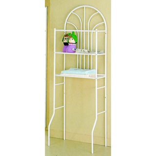 Madison Park White Bathroom Space Saver Shelf