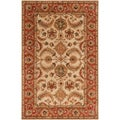 Hand-tufted Woodville Gold Semi-Worsted Wool Rug