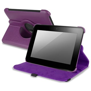 BasAcc Purple Leather Swivel Case for Amazon Kindle Fire HD 7-INCH