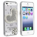 BasAcc Clear Purple Love and Flower Snap-on Case for Apple iPhone 5