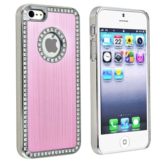 BasAcc Bling Luxury Light Pink Snap-on Case for Apple iPhone 5