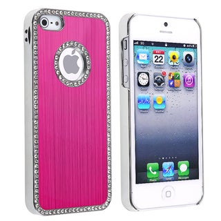 BasAcc Bling Luxury Hot Pink Rear Snap-on Case for Apple iPhone 5/ 5S