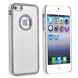 BasAcc Bling Luxury Silver Snap-on Case for Apple iPhone 5
