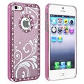 BasAcc Bling Light Pink with Flower Snap-on Case for Apple iPhone 5