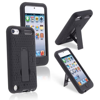 BasAcc Black/ Black Hybrid Case for Apple iPod Touch 5th Generation