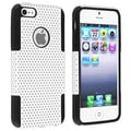 BasAcc Black Skin/ White Mesh Hybrid Case for Apple iPhone 5