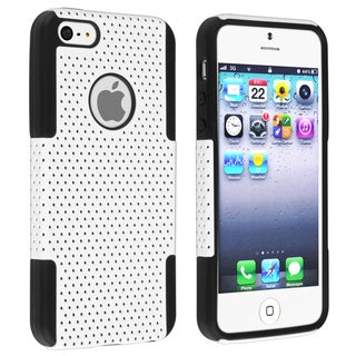 BasAcc Black Skin/ White Mesh Hybrid Case for Apple� iPhone 5
