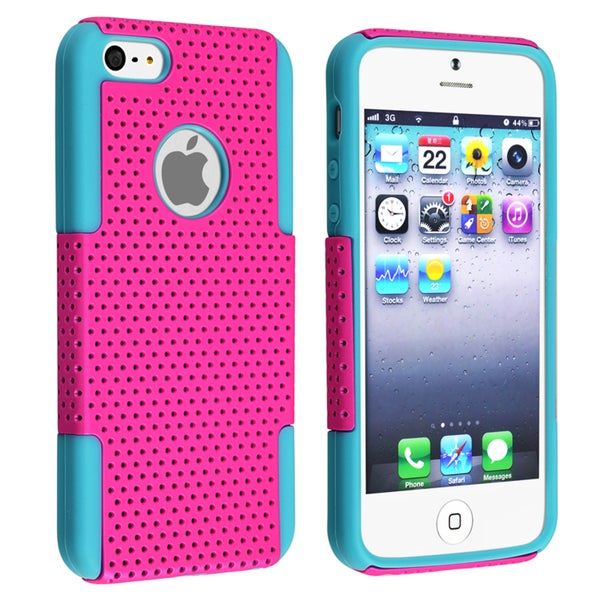BasAcc Blue Skin/ Hot Pink Mesh Hybrid Case for Apple® iPhone 5