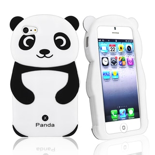 BasAcc Black/ White Panda Silicone Skin Case for Apple� iPhone 5