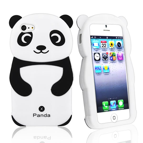 BasAcc Black/ White Panda Silicone Skin Case for Apple® iPhone 5