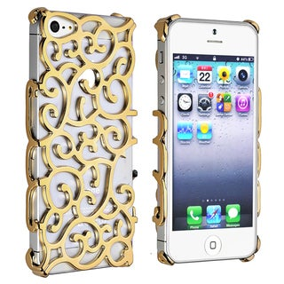 BasAcc Gold Palace Flower Chrome Snap-on Case for Apple� iPhone 5