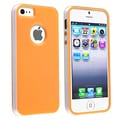 BasAcc Orange/ White Bumper TPU Rubber Skin Case for Apple iPhone 5