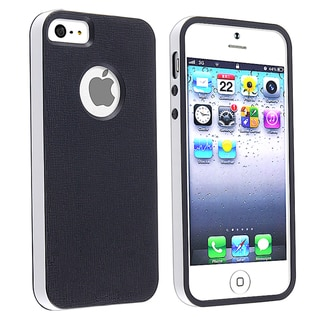 BasAcc Black/ White Bumper TPU Rubber Skin Case for Apple� iPhone 5