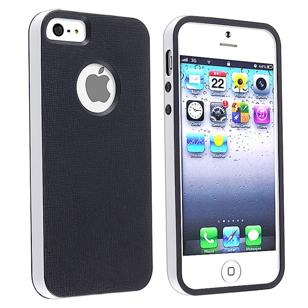 BasAcc Black/ White Bumper TPU Rubber Skin Case for Apple® iPhone 5