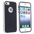 BasAcc Black/ White Bumper TPU Rubber Skin Case for Apple iPhone 5