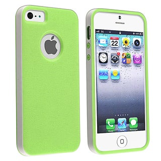 BasAcc Green/ White Bumper TPU Rubber Skin Case for Apple� iPhone 5
